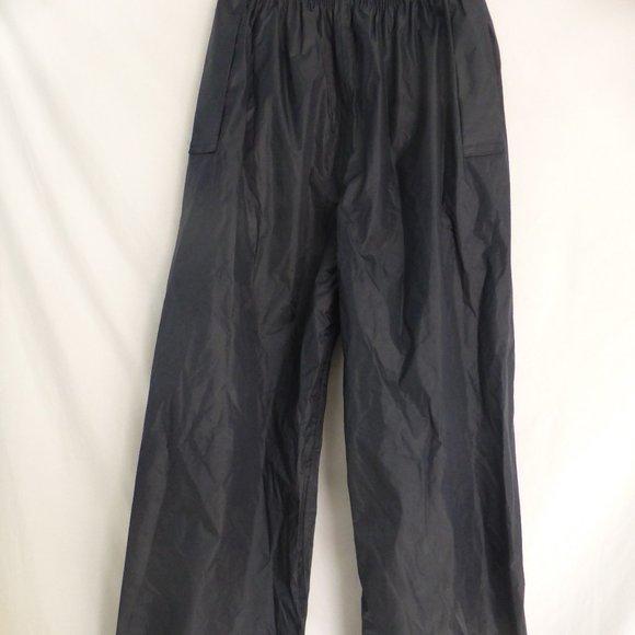 WATERPROOF RAIN PANTS, men's medium, wipe clean